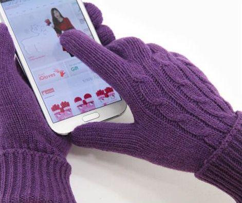 стильные теплые перчатки для сенсорных экранов
