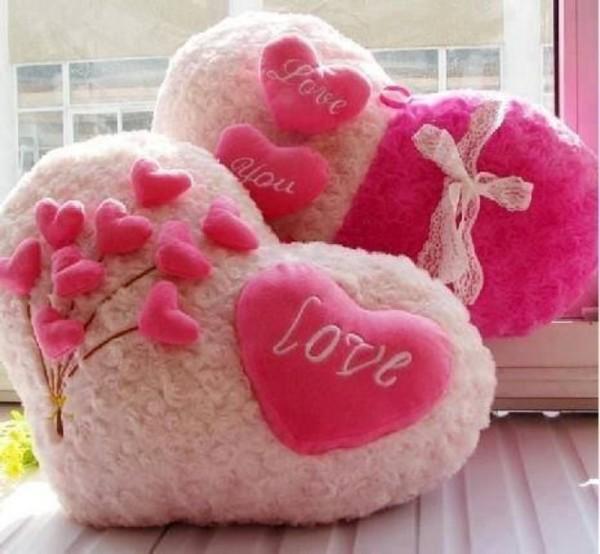 Валентинка подушка сделанная своими руками