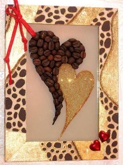 Кофейное панно-признание