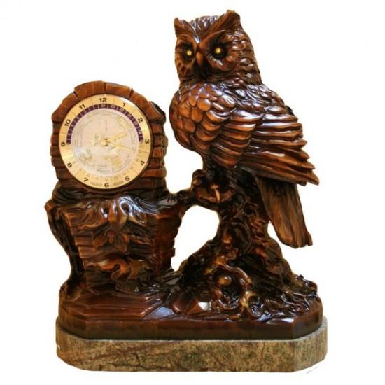Настольные часы с совой