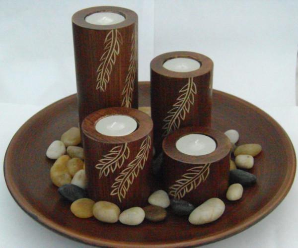 набор красивых свечей