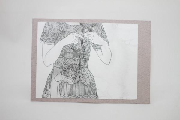 нарисованная открытка