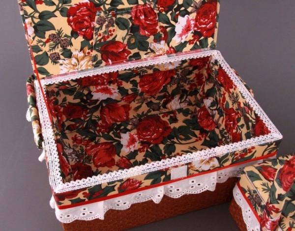 Шкатулки из ткани своими руками фото