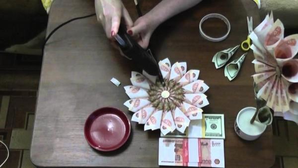 Денежные деревья из бумажных денег мастер класс