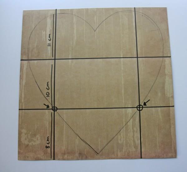 Конвертик в форме сердца