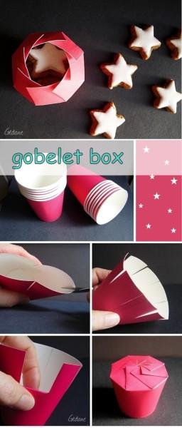 Упаковка из бумажного стаканчика