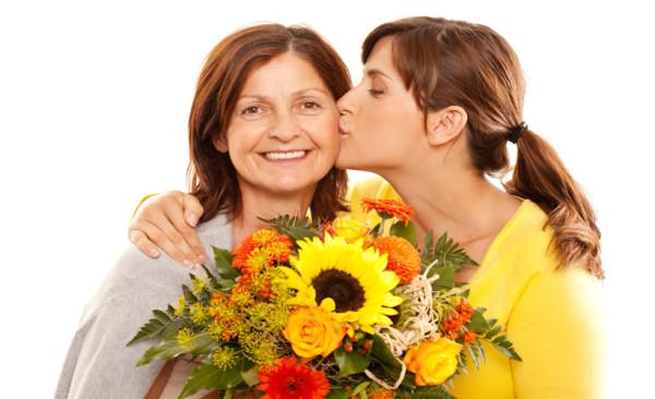 Цветы маме от дочки