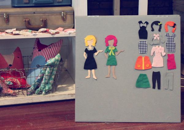 бумажные куколки с набором нарядов