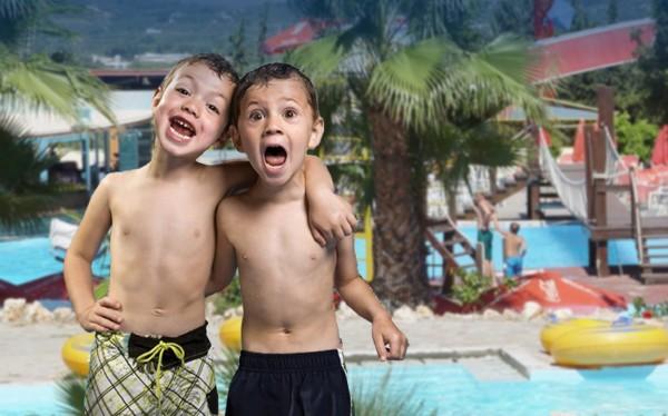 аквапарк с детьми