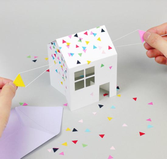 Открытка-домик з бумаги