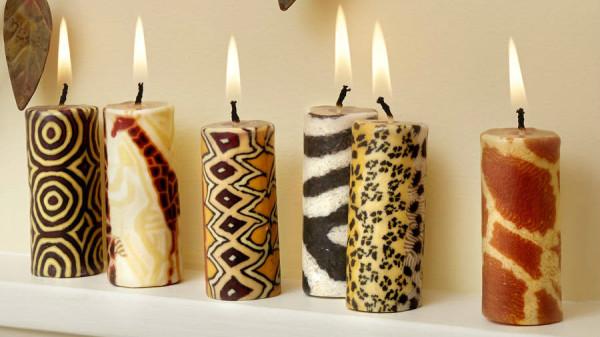 Набор красивых интерьерных свечей