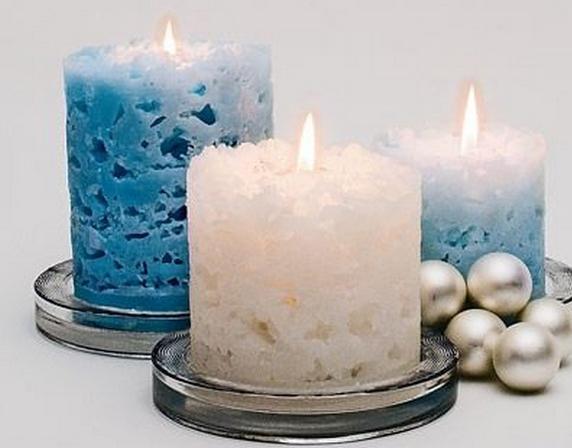 Праздничные свечи на рождество