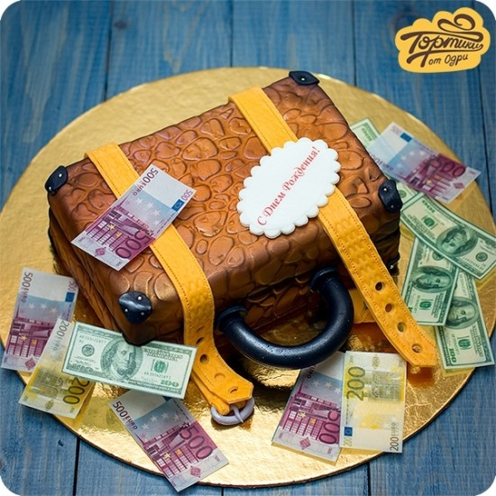 Торт – сундук денег