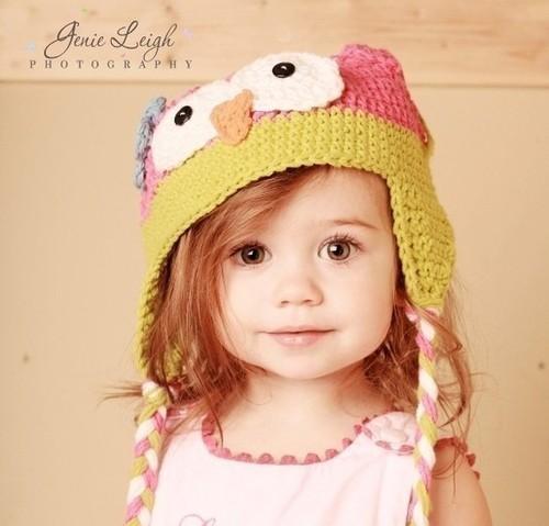 смешная шапочка для девочки