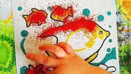 набор для рисования цветным песком