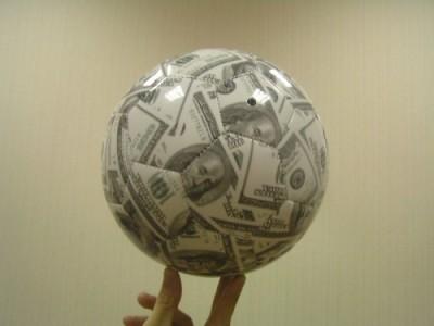 Шар из денег
