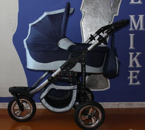 Синяя коляска