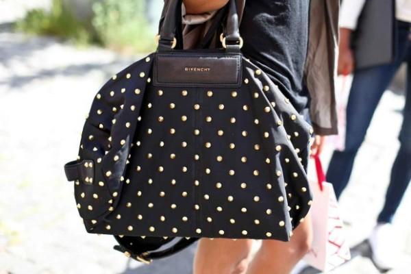 сумка женская черная с белым