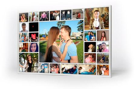 коллаж из совместных семейных фотографий