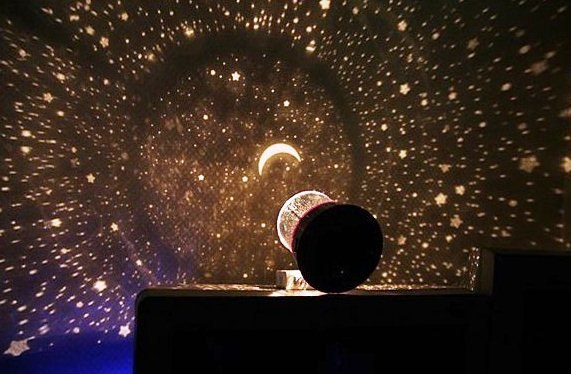 романтичный светильник с эффектом звездного неба