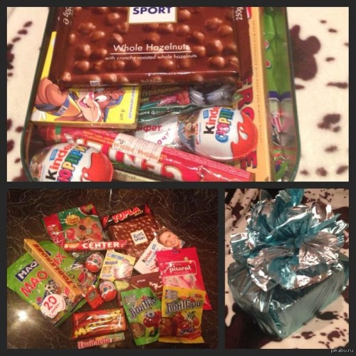 сладости в коробке