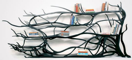Красивая полка для книг