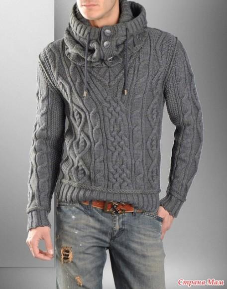 свитер связанный руками