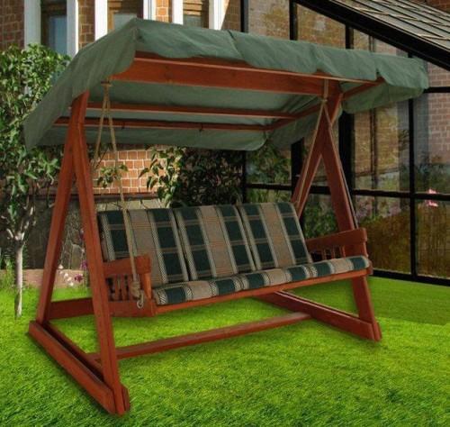 качели-скамейка с тентом для полноценного отдыха