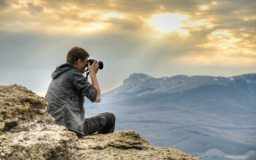 Фотограф на природе