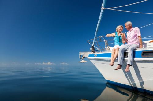 Родители на яхте