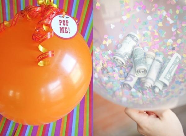 воздушный шарик с деньгами