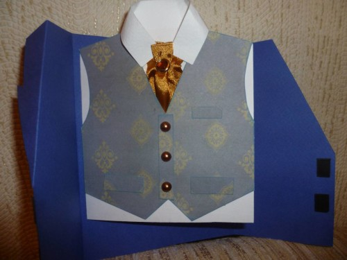 Открытка с галстуком своими рукам