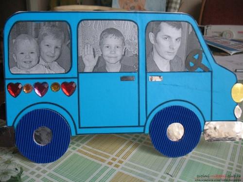 Открытка-автомобиль, сделанная своими руками
