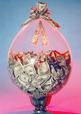 деньги в шаре