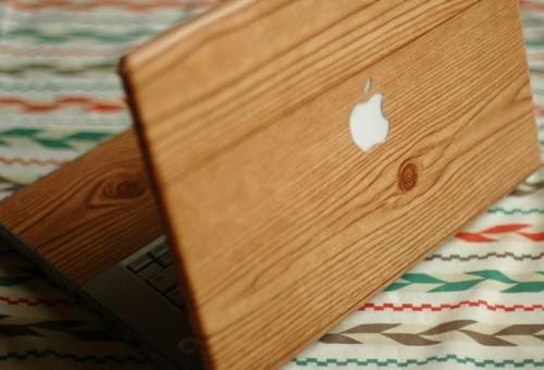 Мак бук из дерева