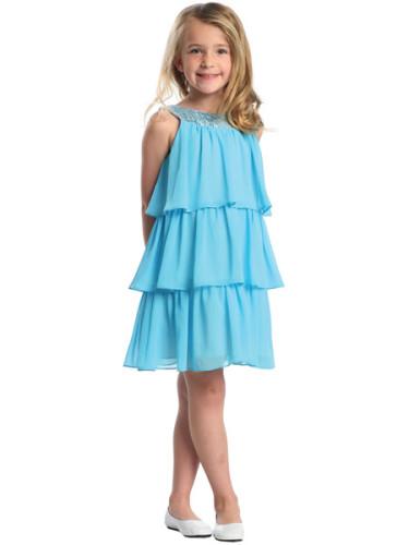 платье голубое для девочки