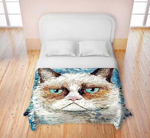 постельное белье с котом
