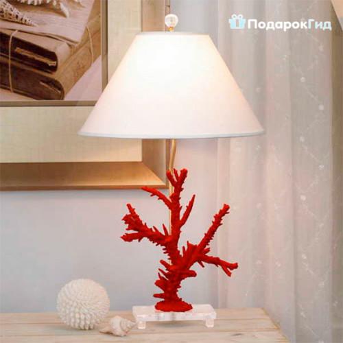 торшер с кораллами
