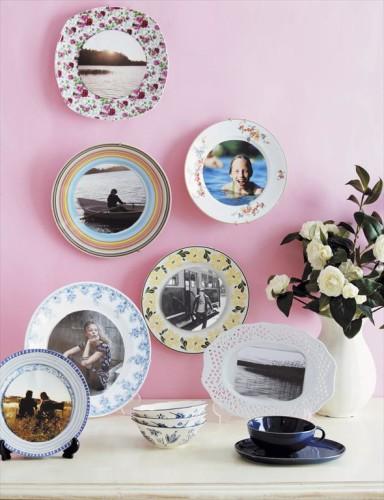 фарфоровые декоративные тарелки с фотографиями всей семьи