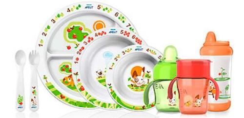 набор качественной детской посуды