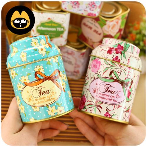 чай в красивой жестяной баночке