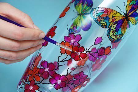 краски для стекла