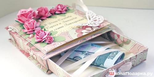 деньги в коробке на свадьбу
