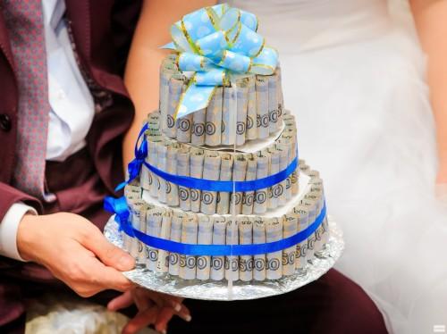 Шикарный денежный торт