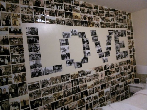 Фотоколлаж на стену для мужа