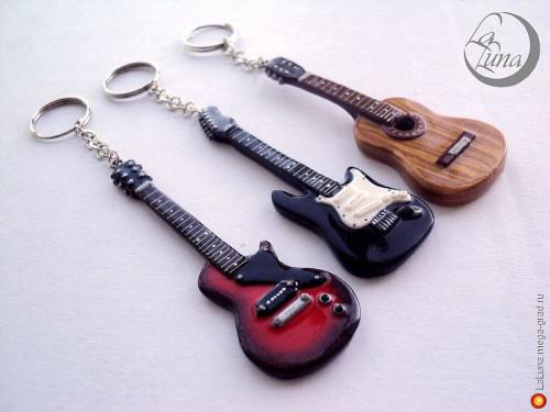 Брелок в виде гитары