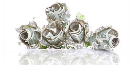 Букеты цветов из денег