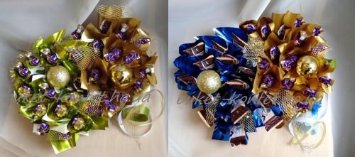 Цветы для мужчин из конфет