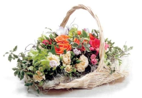 Корзина цветов для мужчины
