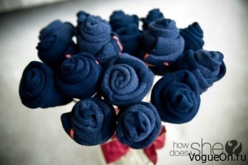 Цветы из носков в подарок мужчине